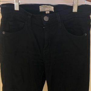 Current Elliott black stretch skinny jeans